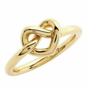 NEW Kate Spade Gold Plated Love Me Knot Ring sz 8